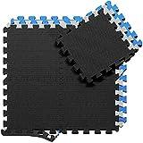 Schutzmatten Set Puzzlematte Bodenschutz Matte - 18 Puzzle Bodenschutzmatten Unterlegmatte | Fitnessmatte Turnmatte Sportmatte Trainingsmatte Boden Schutz, Sport Fitnessraum Keller Garage Fitness Pool (Misc.)