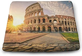 Ladninag Seat Cushion Sunrise Rome Colosseum Chair Cushion Trendy Offices Butt Chair Pads for Kitchens