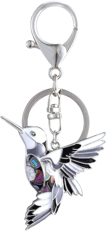 Luckeyui Unique Hummingbird Keychain Gifts for Women Girls Bird Charm Keyrings