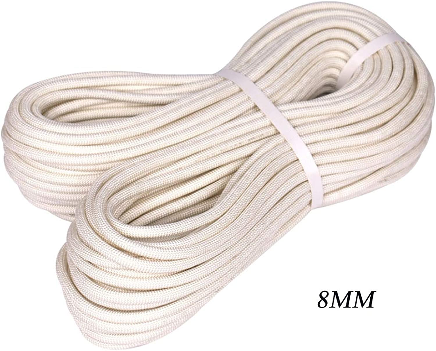 Safety Rope Outdoor Static Ropes Suitable for Downhill Outdoor Development Aerial Work Φ8mm (0.31in) White