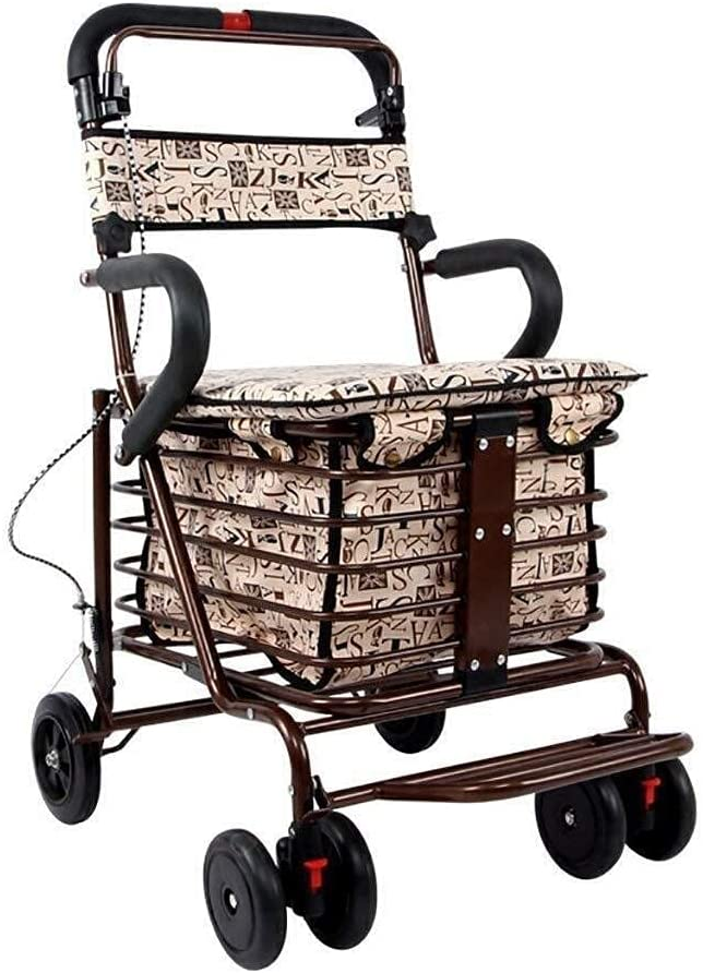 Al sold out. Walker for Seniors Rollator Foldable Cheap Walking Four-W Mobility Aid