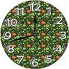 壁掛け時計10in 単純に描かれた有機健康食品パターンにんじんペッパーポテトコーン静音 連続秒針 電池式 寝室 部屋装飾 オフィス 丸形 時計レトロ柱時計,デジタル 柱時計