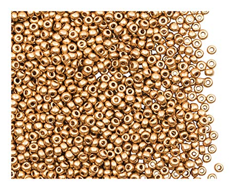 Taille 11//0 50g Verre Seed Perles-Gold transparent Lustered-env 2 mm Craft