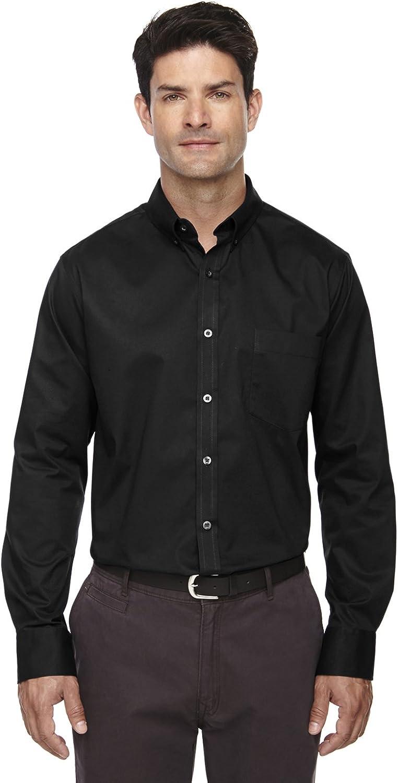 Ash City Core 365 Operate Men's Twill Shirt, Black, LT