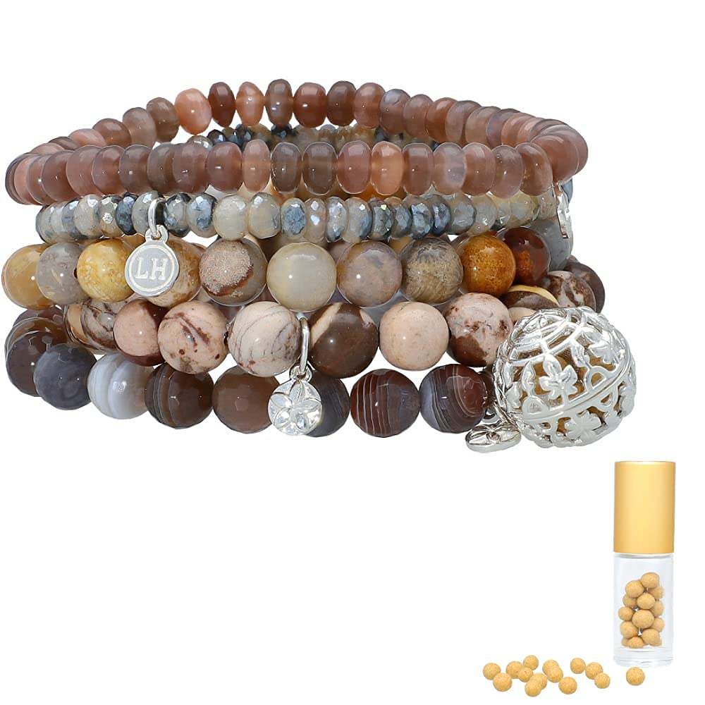 Lisa Hoffman Sterling Silver Direct stock discount Neutral 70% OFF Outlet Fragrance BOHO warm 5 Brown