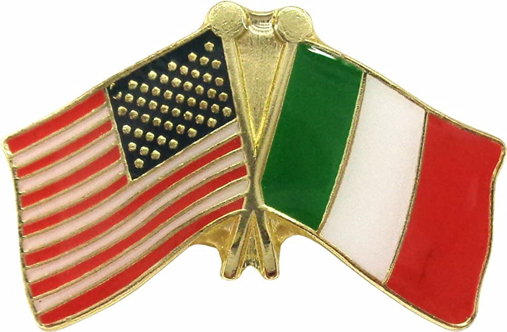Crossed Flags - United States of and America Sales for sale Pin Italy Surprise price Enamel