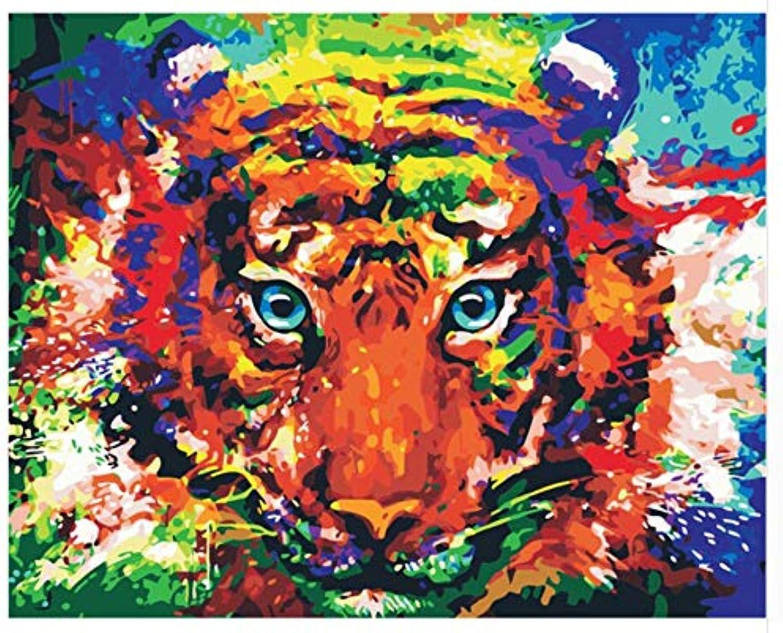 Superlucky Bild Abstrakte Farbe Tiger Wanddekor Wanddekor Wanddekor