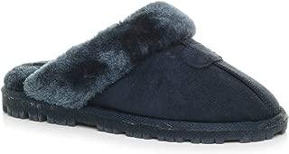 Ajvani Women's Fur Lined Luxury Slippers Size