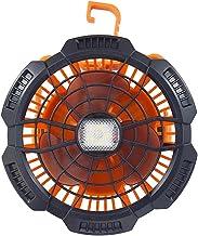 Draaibare USB-ventilator, draagbare campingventilator met ledverlichting, oplaadbare USB-oplaadbare persoonlijke ventilato...