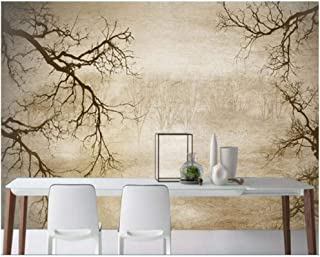 Jiling Sketch Minimalistic Abstract Tree Background Wallpaper Beauty @320X240Cm