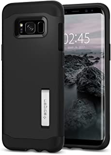Capa Protetora Slim Armor Galaxy S8 Spigen, Spigen, Capa Dupla Proteção Anti-Impacto, Preto