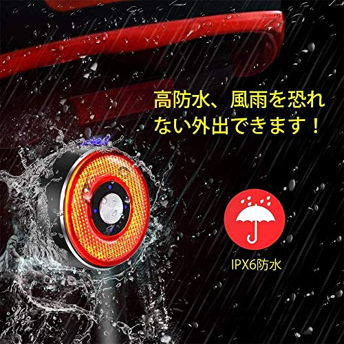 LAOPAOテールライト自転車スマートブレーキ警告【昼夜通用】合金製高輝度リアライトusb充電式自動点滅防水【日本語説明書】夜間走行簡易装着(Q5)