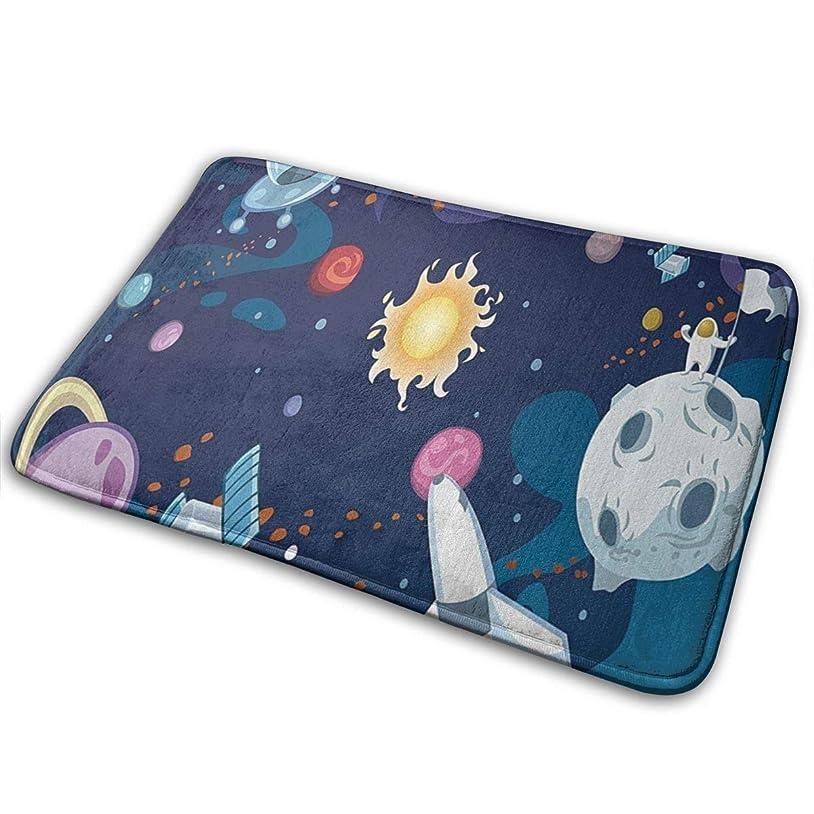 頼む現像悩む銀河の風景宇宙ミッション太陽天の川星雲uto王星火星岩イメージ楽しいようこそ玄関マットパーソナライズされた屋内フロアマットリビングルームベッドルームバスルームドアマット23.6 X 15.8インチ