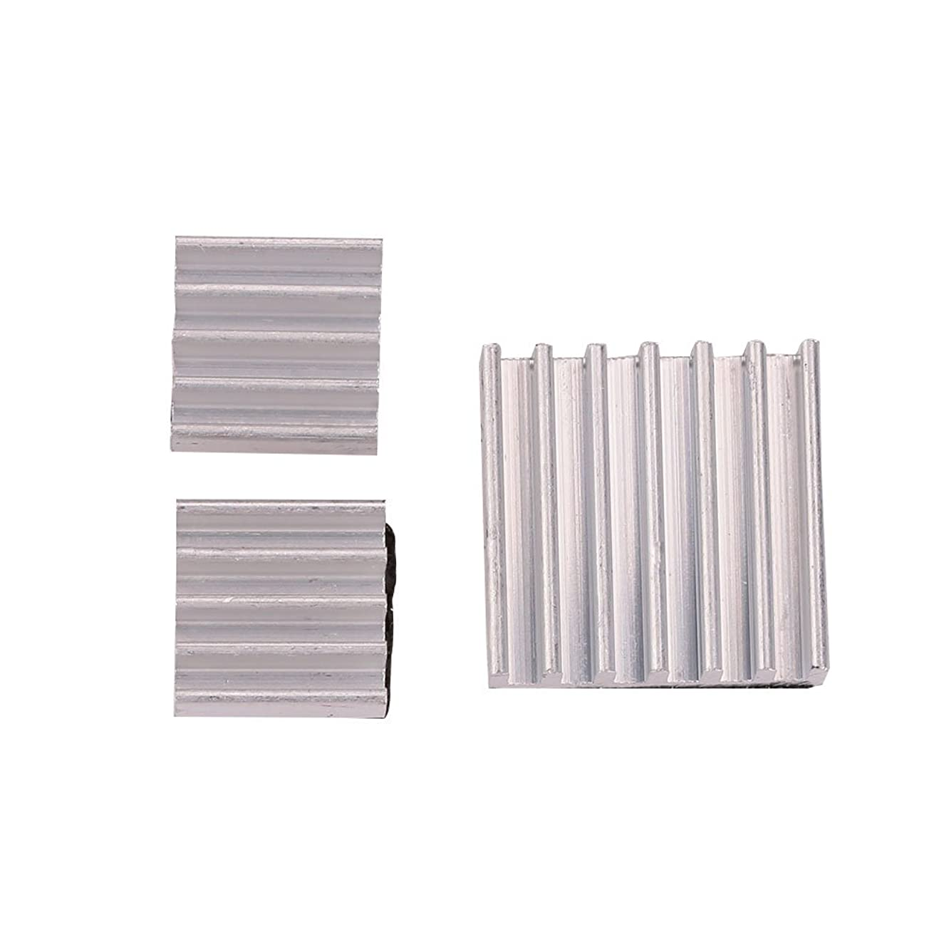 OYJJ Aluminum Heat Sink Ram Heatsink 3 Pcs with Thermal Conductive Adhesive Tape 3Pcs Adhesive Aluminum Heat Sinks Cooling Fin for Raspberry