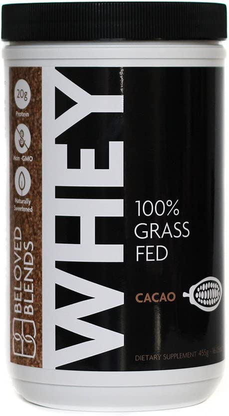 Beloved Blends 100% Branded goods Grass Fed Miami Mall Chocolate Whey - Cacao N Protein