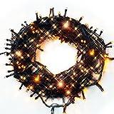 iimono117 イルミネーション 10.5m LED 300球 / 屋外[ 防水 防滴型 同種類 約72m まで 連結可能 ] クリスマス イベント デコレーション 製品保証付き (ゴールド)