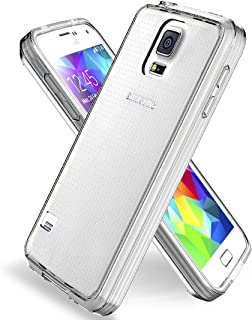 Jeylly Compatible with Galaxy S5 Case, Galaxy S5 Clear Case Shock Absorption Ultra Slim TPU Anti-Scratches Slim Fit Thin Cover Shell for Galaxy S5 I9600 GS5 G900V - Crystal Clear