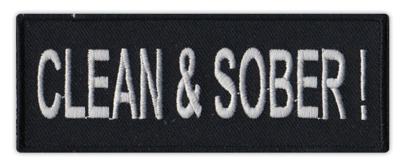 Motorcycle Biker Jacket/Vest Embroidered Patch - Clean and Sober - No Drugs, No Alcohol