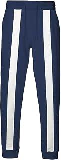 Hibuyer BHNA Izuku Midoriya Training Suit Trousers Cosplay Costume Casual Stripes Athletic Running Pants Navy Blue