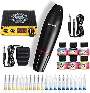 Dragonhawk Mast Pen Rotary Tattoo Machine 20pcs Cartridges Professional Disposable Cartridges for Tattoo Artists Gift Box 102DIY