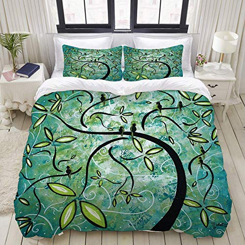 812 Bedding printed duvet cover,Spring Shine tree,microfiber quilt cover(260x220cm),Pillowcase 50x80cm