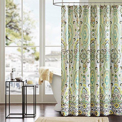 Intelligent Design ID70-284 Tasia Shower Curtain 72x72 Green