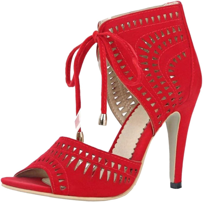 JOJONUNU Women Peep Toe Sandals