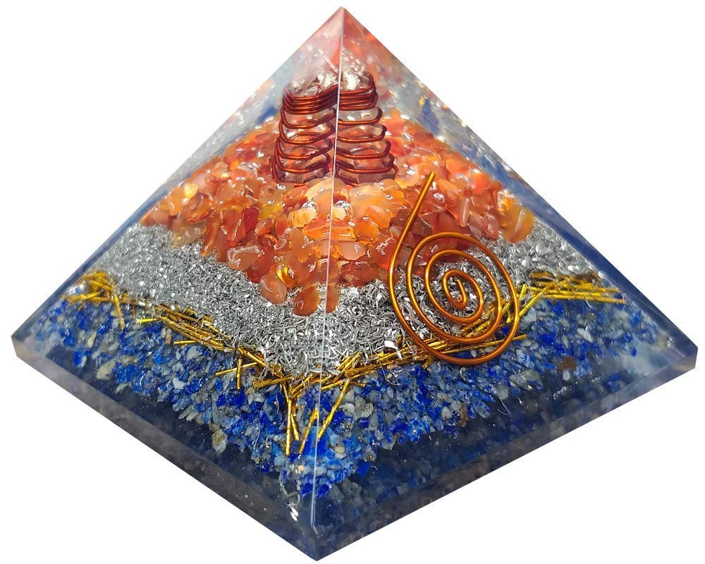 Orgonite Red Carnelian Orgone Super special price Energy Generator Pyramid With Lapi famous