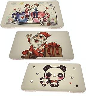 iEay 3 Pièces Boîtes de Rangement pour Masques, Boites de Stockage Portables de Masque, Face Masks Storage Boxes pour Noël