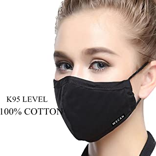 ZWZCYZ N95 Mask Dust Mask PM2.5 Pollen Allergy flu Insert Can Be Washed Reusable Masks Cotton Mouth Mask for Men Women