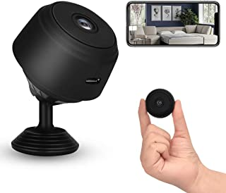 WiFi Mini Camera, 1080P HD Wireless Hidden Cameras, Nanny Cam with Night Vision and Motion Detection for Indoor Outdoor Of...