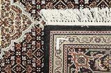 Nain Trading Indo Täbriz 202x140 Orientteppich Teppich Beige/Dunkelbraun Handgeknüpft Indien - 2
