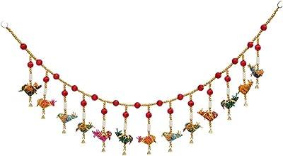 Handicrafts Paradise Beads with Multiple Birds Cloth Door Hanging 100 cm X 2.5 cm X 14 cm, Multicolor