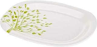 Servewell Tree Of Life Oval Serving Platter - White