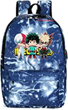My Hero Academia Collage Bag Travel Laptop Backpack with USB Charging Port and Lockstitch