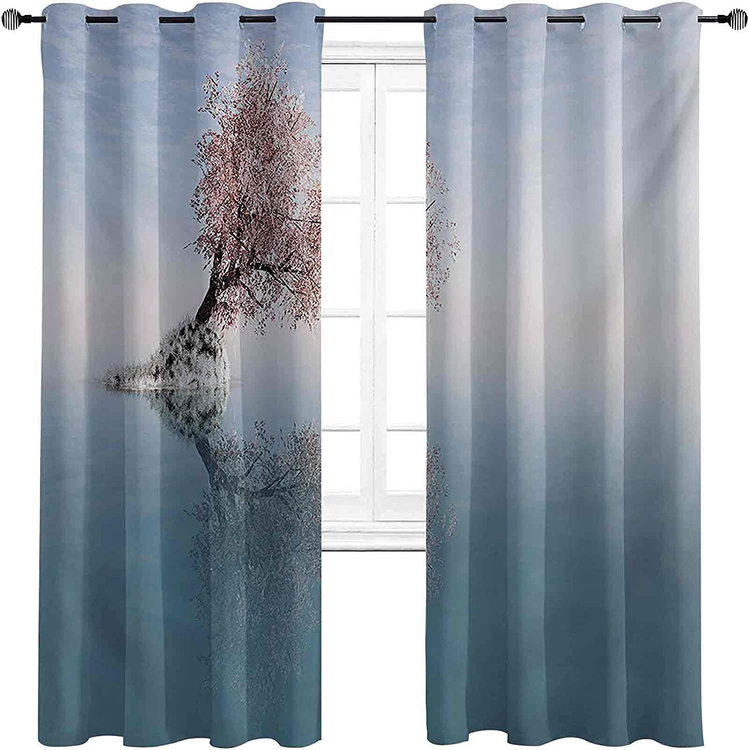 Tree Blackout Curtains with Grommets Be Don't miss the campaign super welcome A darken Flower Th in