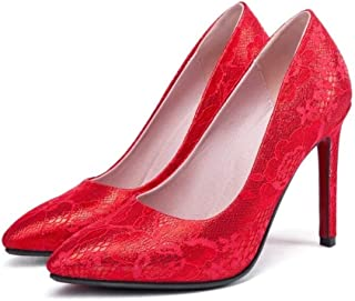 Solid Color Pointed Pattern High Heels For Banquet Wedding Dress Daily (Color : B, Size : 35)