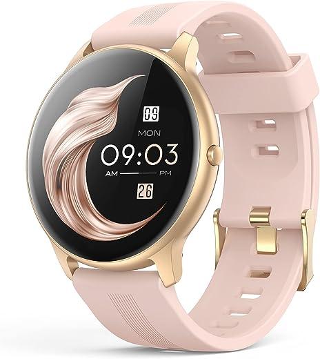 Smartwatch, AGPTEK 1,3 Zoll Armbanduhr mit personalisiertem Bildschirm, Musiksteuerung, Herzfrequenz, Schrittzähler, Kalorien, usw. IP68…