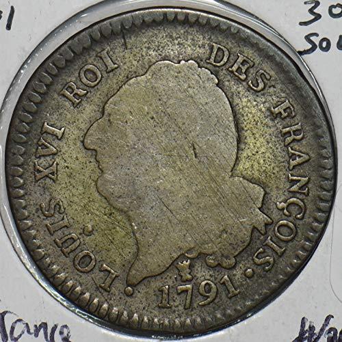 1791 FR France 1791 30 Sols 491029 DE FAIR