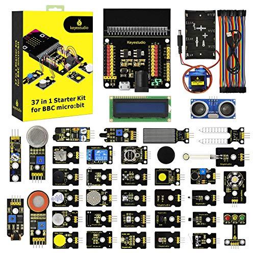 KEYESTUDIO BBC Micro:bit 37 en 1 Sensores Kit de Inicio con Placa de Control para Microbit