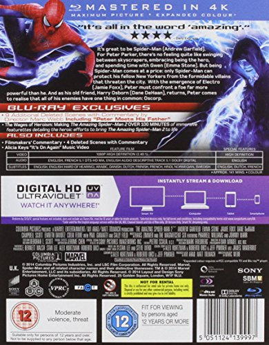 The Amazing Spider-Man 2 [Blu-ray] [2014] [Region Free]