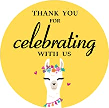 MAGJUCHE Llama Thank You Stickers, Whole Llama Fiesta Birthday or Baby Shower Party Sticker Labels for Favors, Decorations...