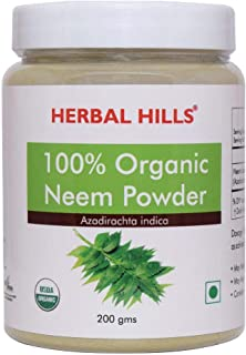 Herbal Hills 100% Organic Neem Powder | Neem Leaves Powder - Azadirachta Indica 7 Oz, 200 gms