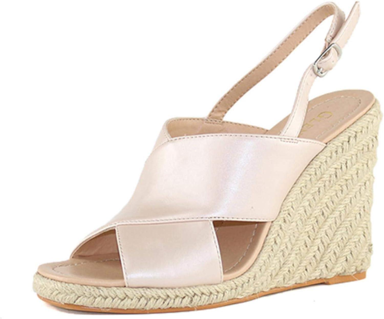 Women Sandals Summer Leather Woman Open Toe High Heels