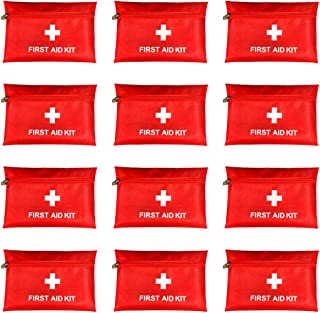 PAXLamb Red First Aid Bag Empty First Aid Kit Empty First Aid Pouch Small Mini for First Aid Kits Pack Emergency Hiking Ba...
