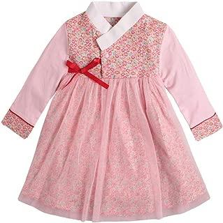 Baby Girl Korean Clothes Long Sleeve Romper Dress Traditional Clothing Hanbok Dress