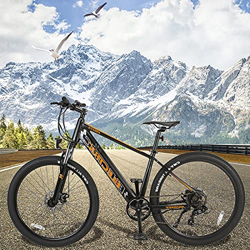Bicicleta Eléctrica de Montaña 250 W Motor Bicicleta Eléctrica con Batería de Litio de 10Ah Bicicleta Eléctrica Urbana Shimano 7 Velocidades Hombres Mujeres con Instrumento LCD Central