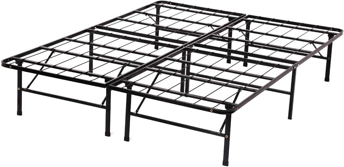 Queen Topics on TV Bed Frame Max 72% OFF Metal Platform Size 14 Inch Matt