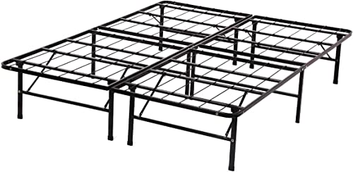 popular Queen Bed Frame Metal Platform Bed Frame high quality Queen Size 14 Inch Mattress Foundation 2021 Box Spring Replacement Heavy Duty Steel Slat Noise-Free Easy Assembly,Black outlet online sale