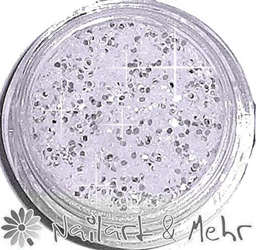 1 döschen Multi glitzzzer, # mg de 109 Blanc Argent/Iris ierend Grain : 1,2 mm